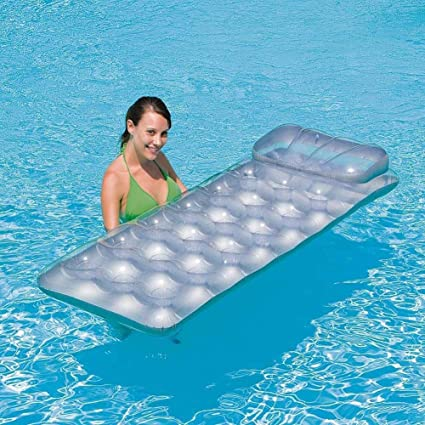 Myself-Inflatable floating row Agua Inflable Cama Individual ...