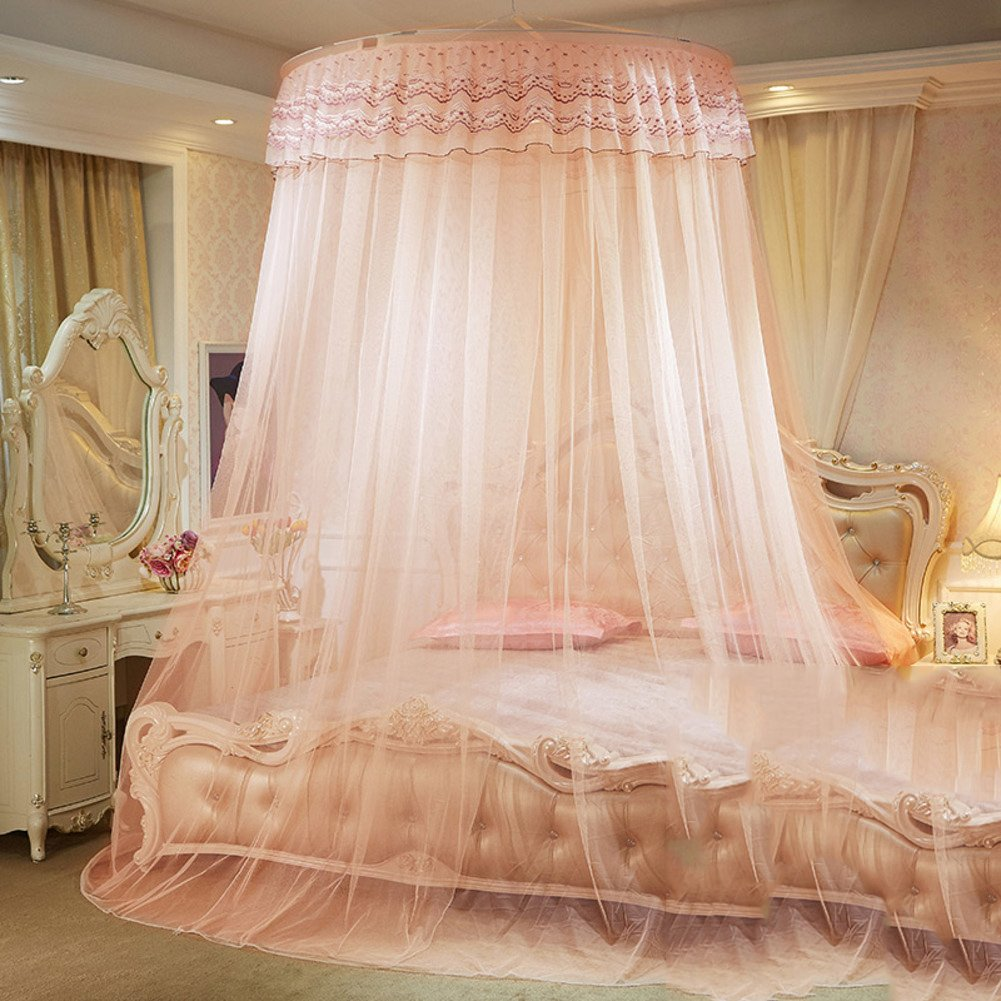 Court Dome Ceiling Mosquito Net/Princess Wind Fine Mosquito Net/Children's Single Door,Encrypted Thickening Naked Simple Mosquito Net-N F