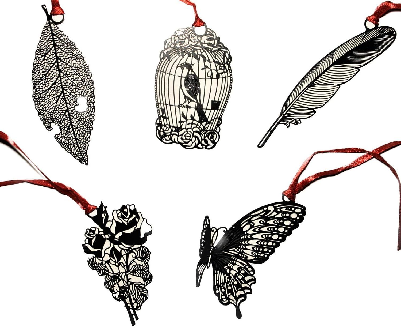 5 pezzi per set Tema Foresta Segnalibro in metallo