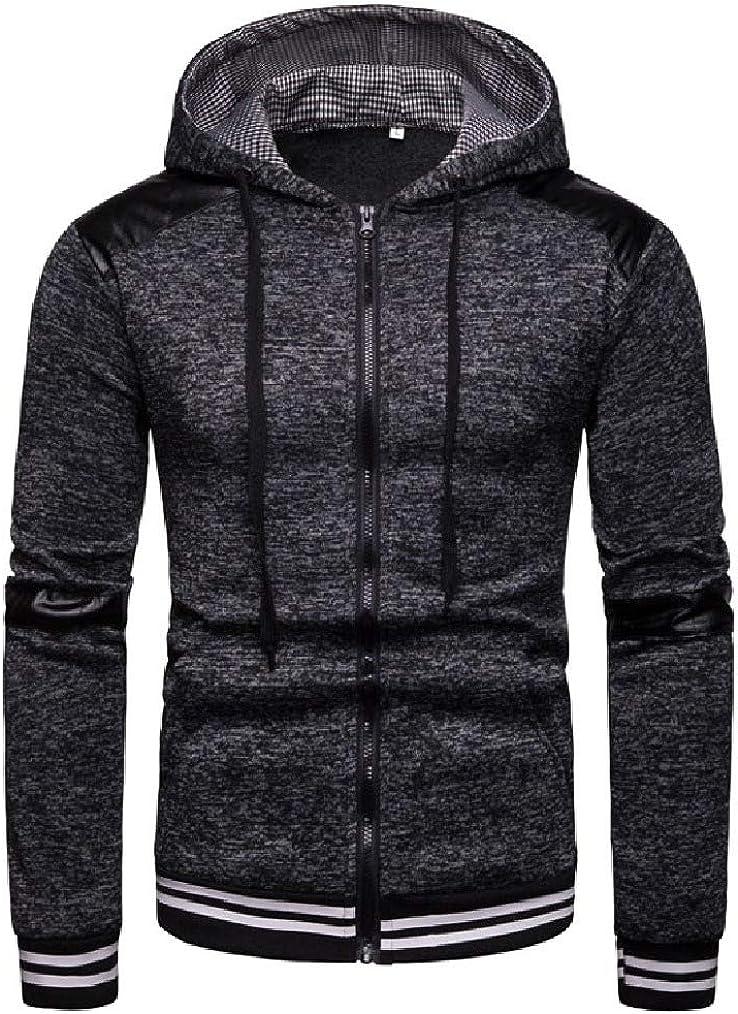 Vska Mens Hooded Zipper Jackets Movement Baseball Hoodie Jacket