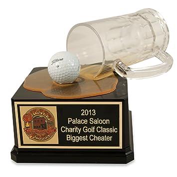 Amazon.com: Derrame de taza de cerveza de golfista trofeo ...