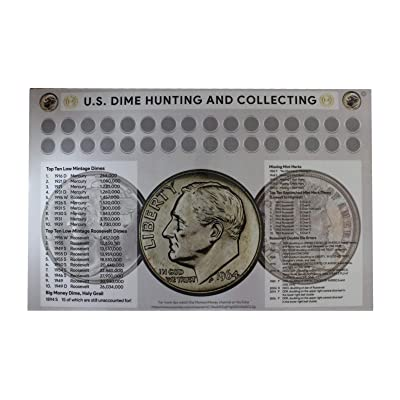 "U.S Dime Hunting and Collecting 11"" x 17"" Coin Roll Sorting Laminated Mat: Toys & Games"