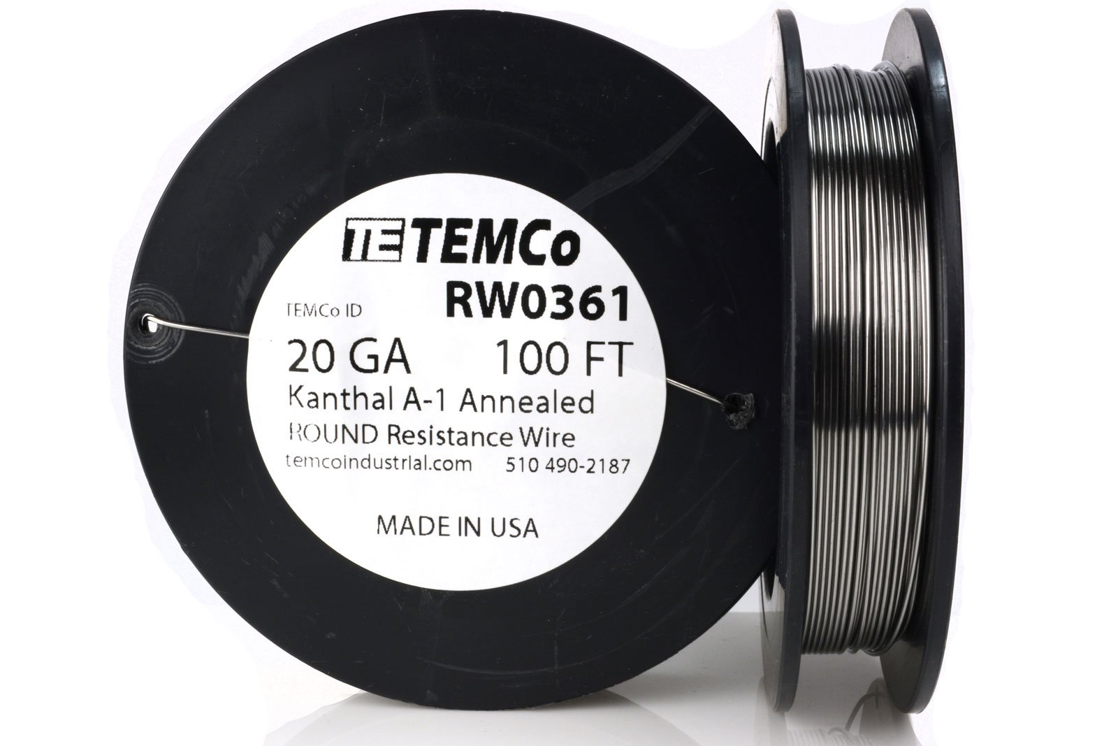 TEMCo Kanthal A1 wire 20 Gauge 100 Ft Resistance AWG A-1 ga