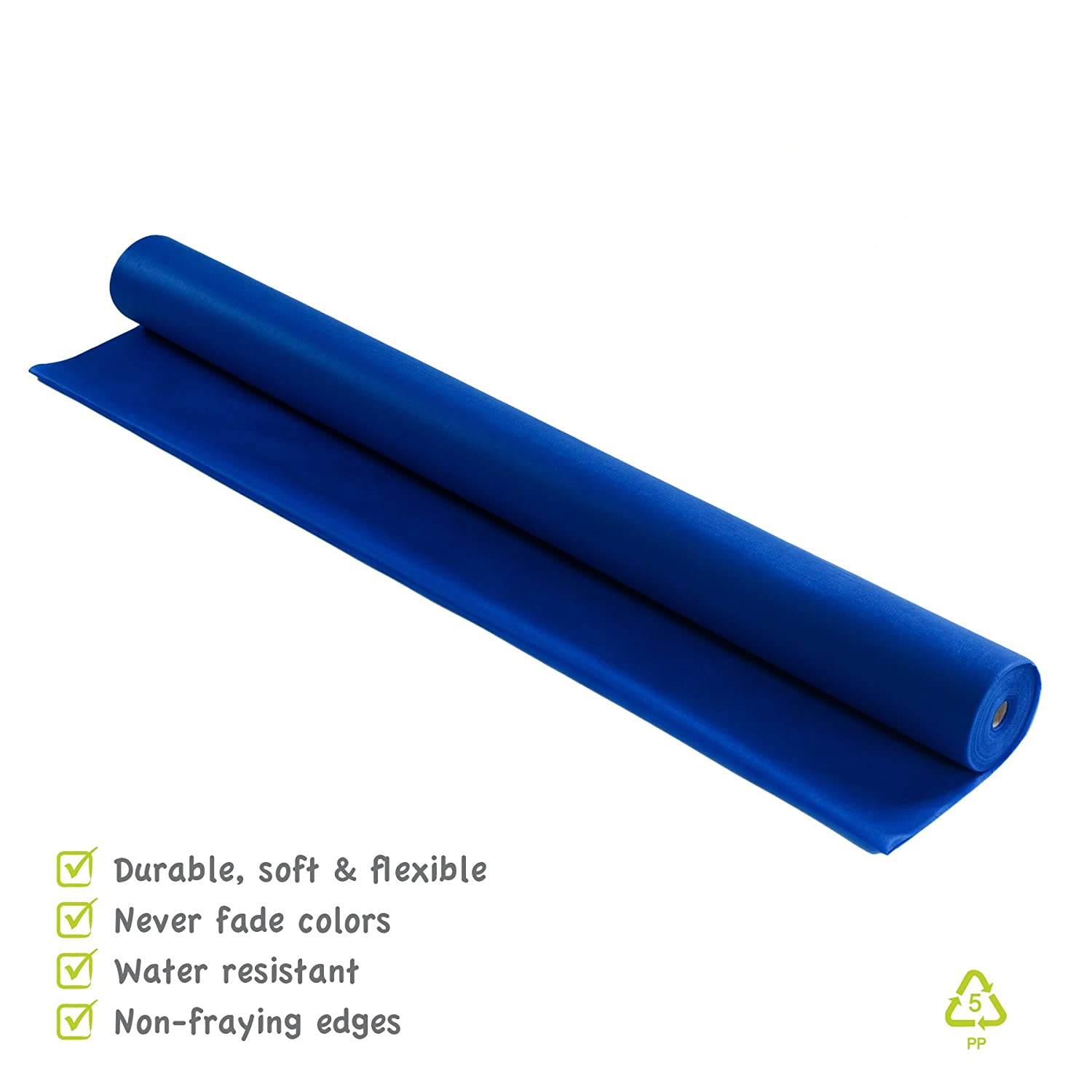 120 Ft Use for Arts /& Crafts 48W Smart-Fab Disposable Classroom Bulletin Board Background Fabric Roll Wont Fade or Rip Like Paper Dark Blue