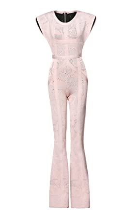 cffebb4fff Leger Babe Kasie Rose Multi-Texture Plaited Jacquard Jumpsuit at ...