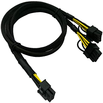 10pin to 6+8pin Power Cable for HP ML370 G6 and Intel Xeon Phi GPU 50cm