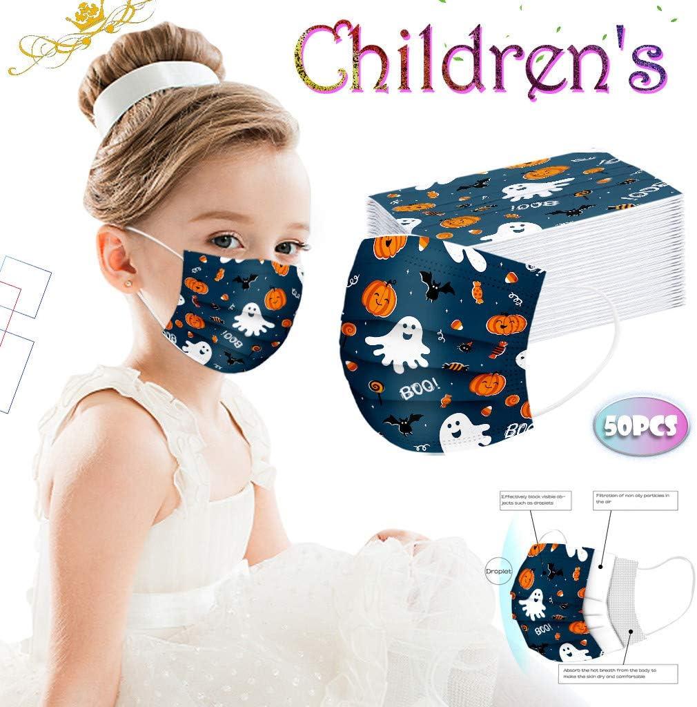 50Pcs Enfants jetable 3 Couches Filtre Face Scarf avec des Boucles doreille Respirabilit/é /écharpe Animaux de Imprim/é Dinosaure