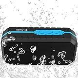 Sunvito Casse Bluetooth Mini portatili stereo senza fili, Casse Bluetooth per sport esterno impermeabile per la doccia con jack microfono stereo audio per iPhone, iPad, Samsung, Nexus, HTC e Altro
