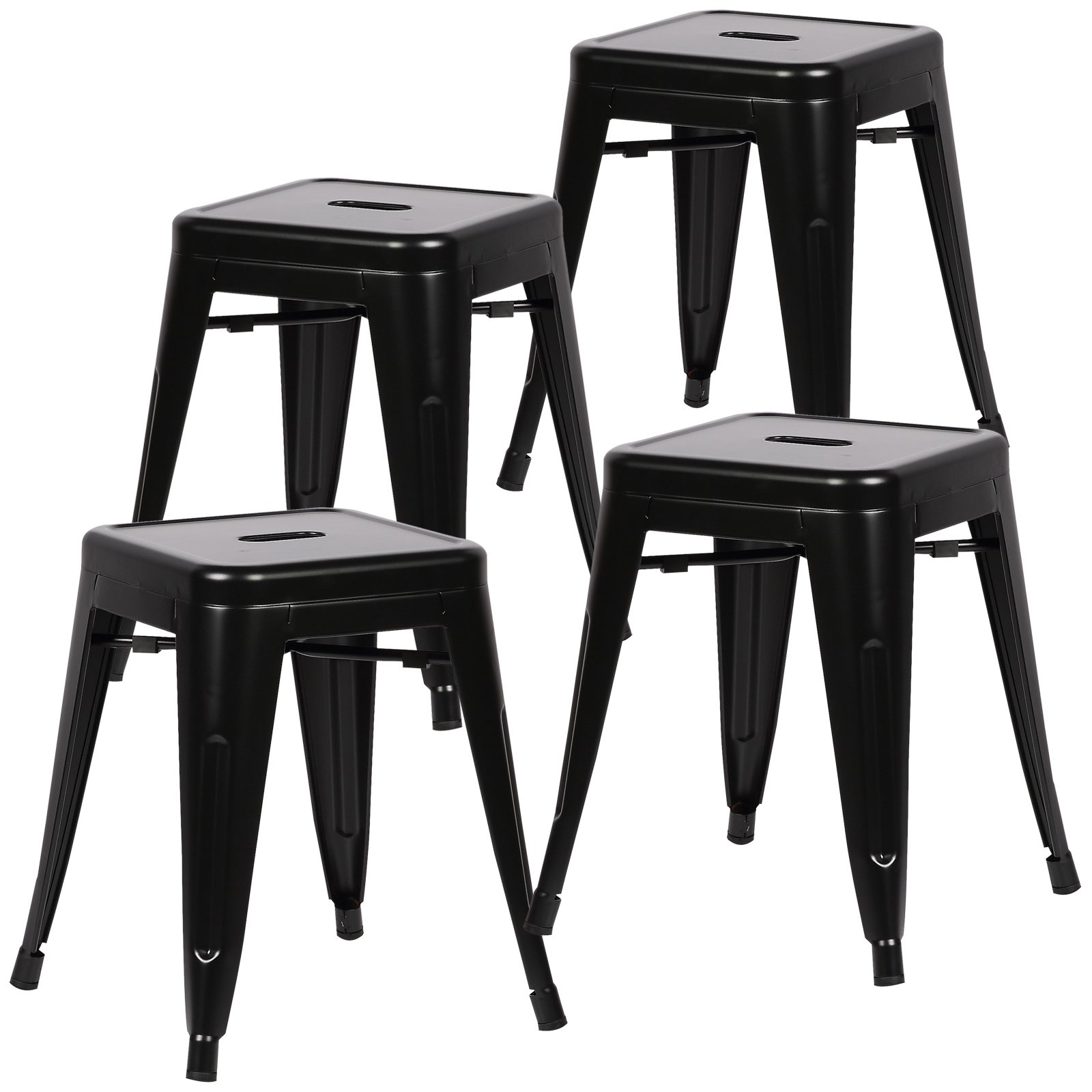 Poly and Bark Trattoria 18'' Stool in black (Set of 4) by Poly and Bark