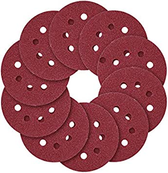 5-Inch 8-Hole Hook and Loop Sanding Discs 120-Grit Sandpaper Pad
