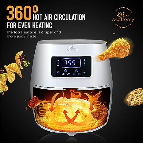 Amazon.com: Kitchen Academy 5.8QT, XL freidora de aire ...