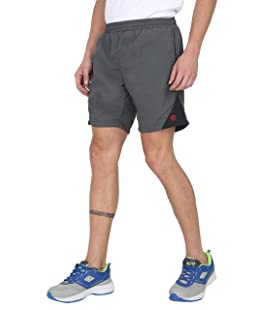 Forest Club   Gym Wear   Sports Shorts  Shorts for Men   Smooth Breathable Fabric   Shorts with Pocket Zippers   All TIME WEAR   Grey