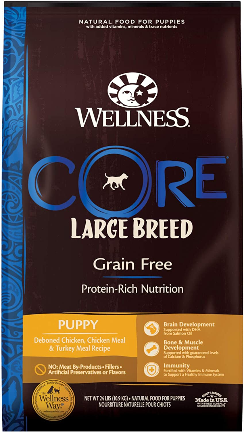 Wellness CORE Natural Grain Free Dry Puppy Food, Large Breed Puppy