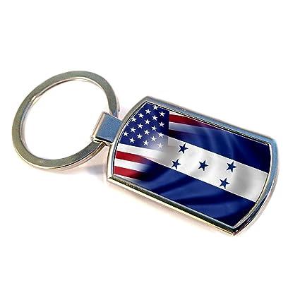 Premium llavero con bandera de Honduras y Estados Unidos ...
