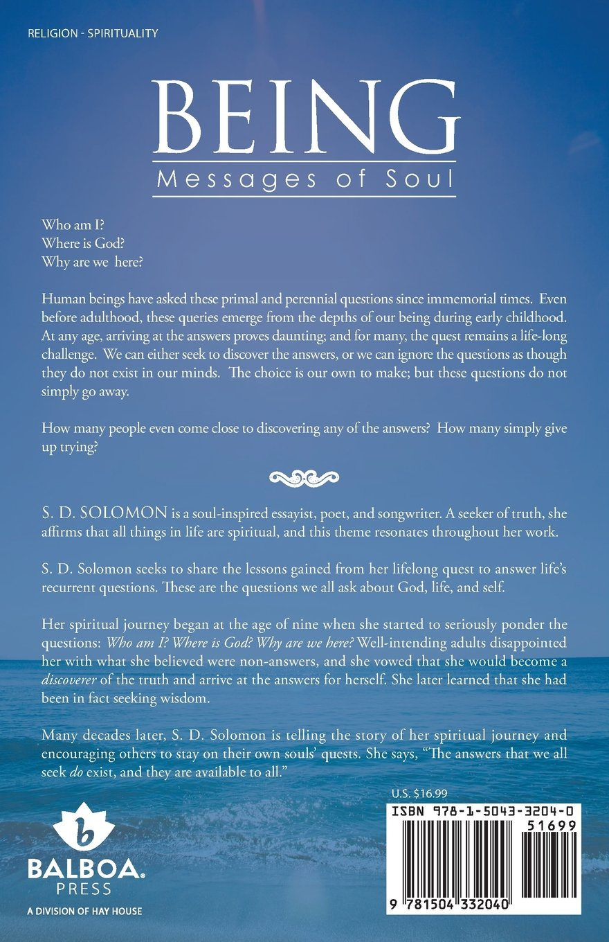 Being: Messages of Soul: S  D  Solomon: 9781504332040