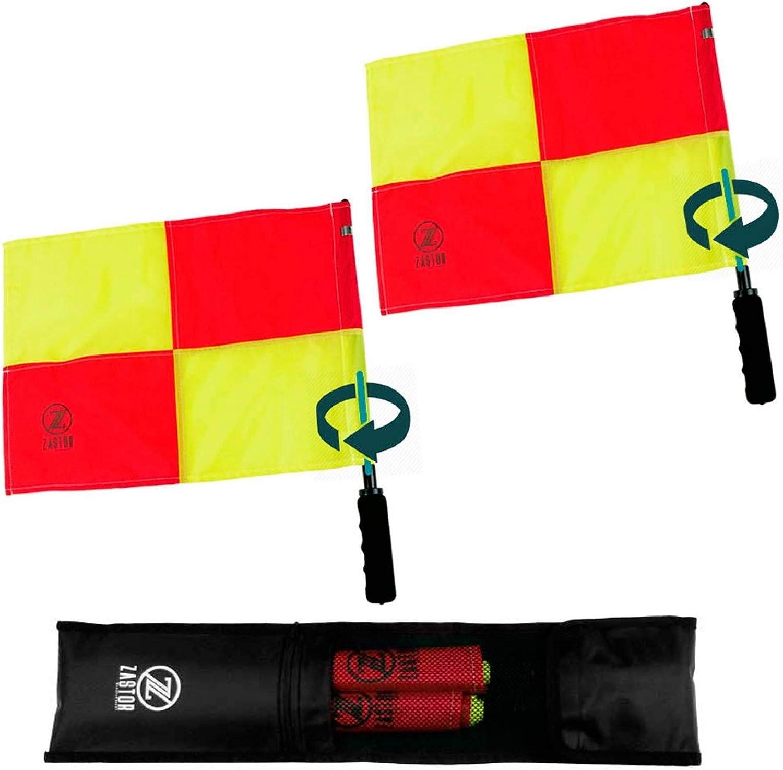 banderines giratorios para árbitros asistentes o jueces de línea