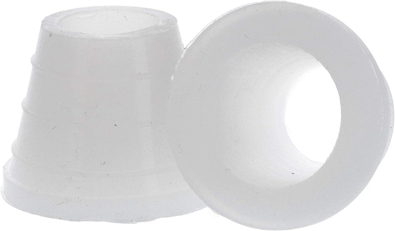 Shisha-World® - Junta ancha para ollas de tabaco, 2 unidades, junta de goma para cabezales de tabaco, adaptador para cabeza (blanco)