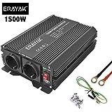 ERAYAK Inversor de Corriente 1500W (Pico 3000W), Convertidor, Transformador 12v 220v Con Puerto USB Con 2 AC Tomas y…