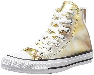 Unisex-Erwachsene CTAS Hi Silver/Gold/White Hohe Sneaker, Mehrfarbig (Silver/Gold), 37.5 EU Converse