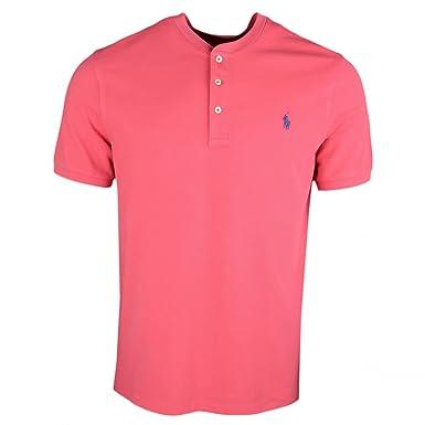 913a9d341835ea Ralph Lauren Polo piqué Rouge Vieilli Logo Marine col Mao pour Homme   Amazon.fr  Vêtements et accessoires