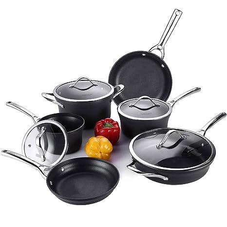 Amazon.com: cooksmark Juego de ollas y sartenes ...