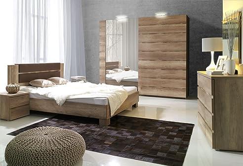 Schlafzimmer Komplett - Set F Nestorio, 6-Teilig, Farbe: Eiche