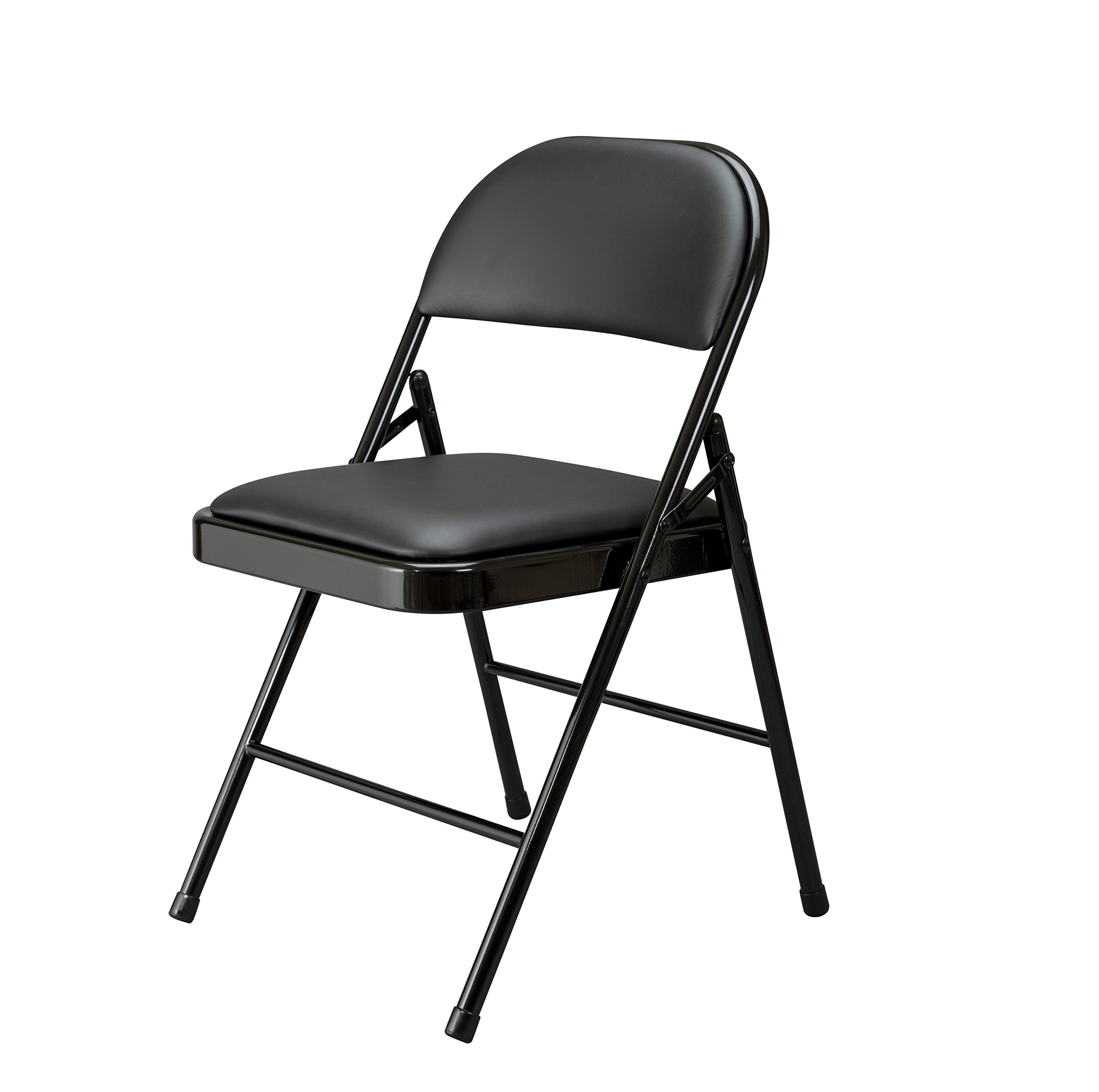 Essentials Multipurpose Padded Metal Folding Chair, Black - 4 Pack (ESS-8210-BLK) by OFM