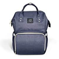 Diaper Bag Backpack, Ticent Travel Nappy Backpacks Large Spacious Waterproof Tote Shoulder Bag Organizer For Mom & Dad, Navy Blue