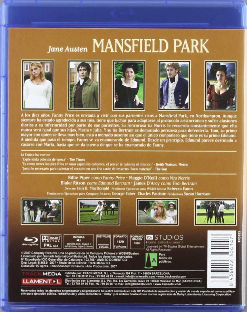 Amazon.com: Mansfield Park [Blu-ray]: Julia Joyce, Douglas Hodge, Maggie ONeill, Tara Berwin, Lucy Hurst, Zachary Elliott-Hatton, Greg Sheffield, ...