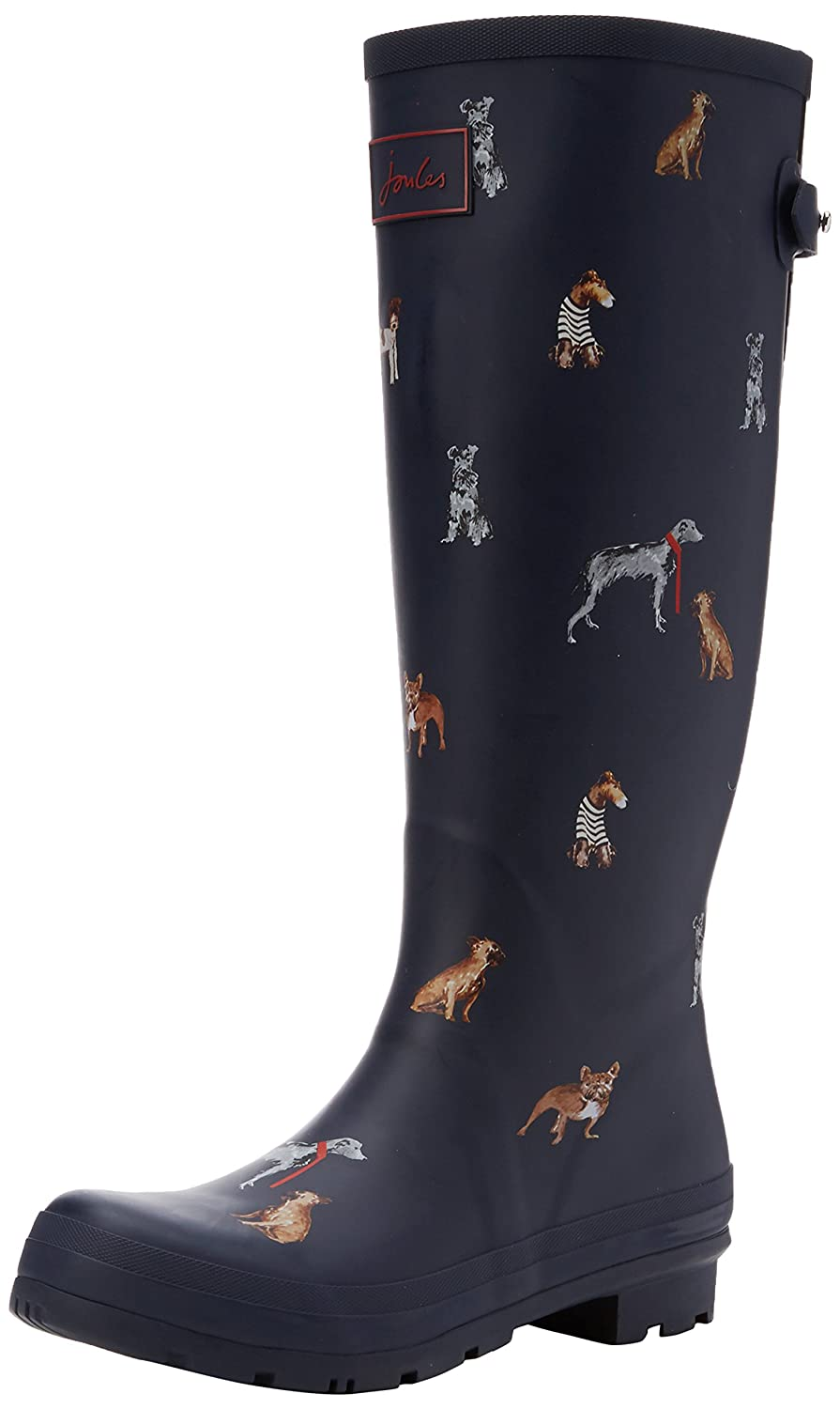 Joules Women's Ajusta Rain Boot B06WGNWB19 5 B(M) US|French Navy Cosy Dogs