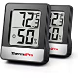 ThermoPro TP49 2 Pieces Digital Hygrometer Indoor Thermometer Humidity Meter Room Thermometer with Temperature and Humidity M