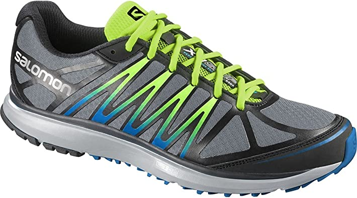 Salomon X TOUR Zapatillas Gris Negro Verde Trail Running para ...