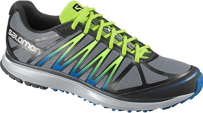 Salomon X TOUR Zapatillas Gris Negro Verde Trail Running para Hombre: Amazon.es: Zapatos y complementos
