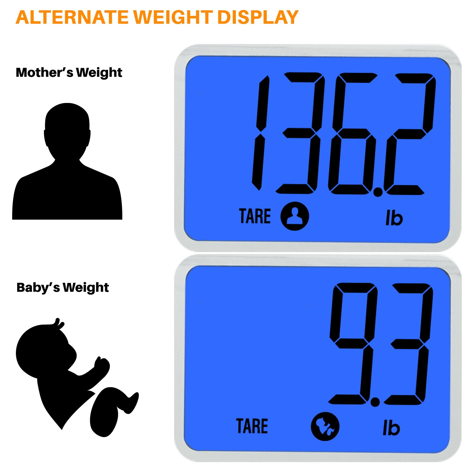 Smart Weigh Digital Body Weight Scale with Baby or Pet Tare Weighing Technology, Bathroom Scale with Large LCD Display and Tempered Glass Platform, 440lbs/200kg Capacity (Black) by Smart Weigh (Image #7)