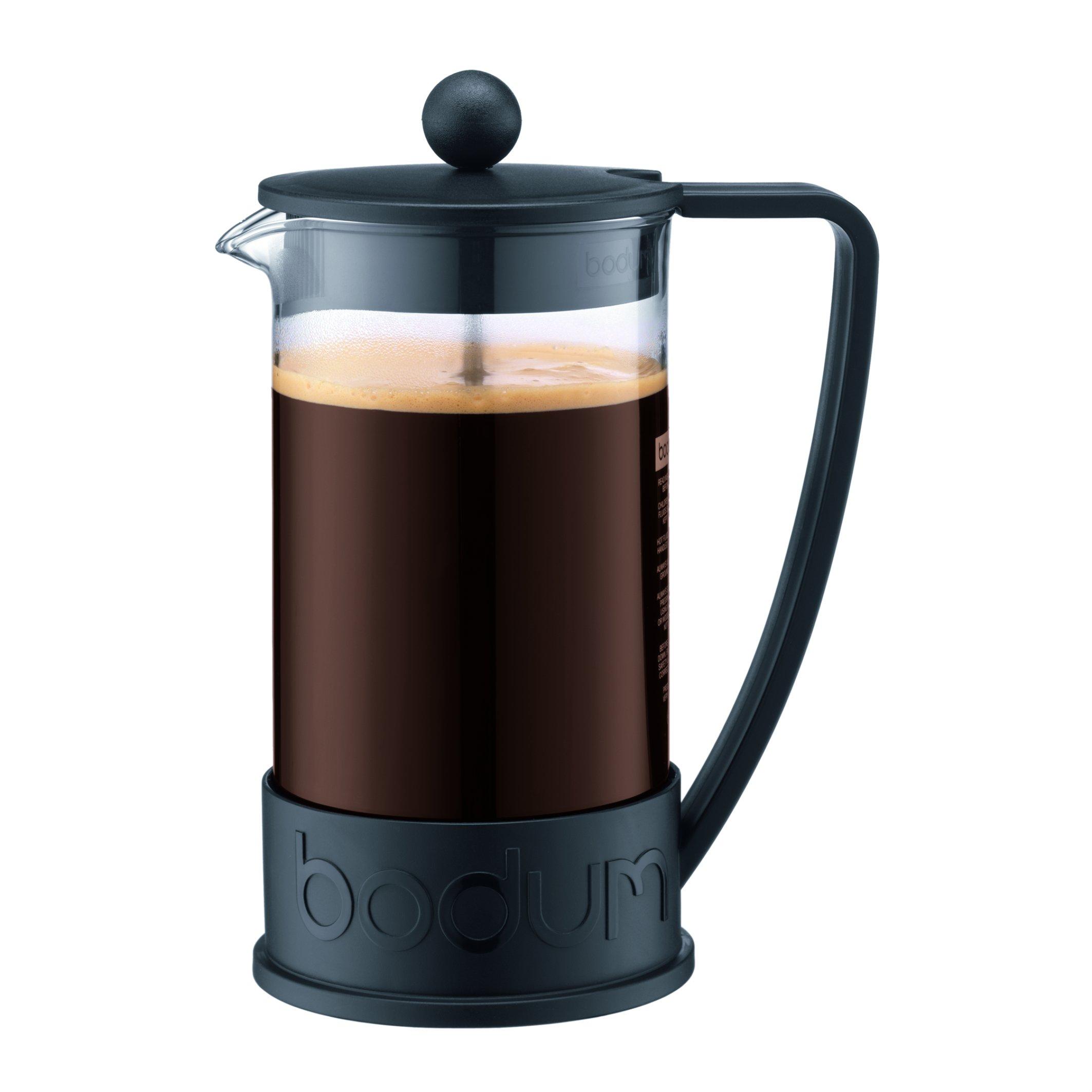 Bodum 10938-01B Brazil French Press Coffee and Tea Maker, 34 Ounce, Black by Bodum