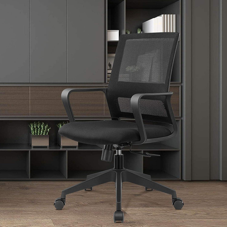 MEILEQI dator kontorsstol spel spelstol personalstol plus nättyg svängbar stol för hem kontor arbetsrum sovsal studentstol vardagsrum mottagningsstol (färg: B) a