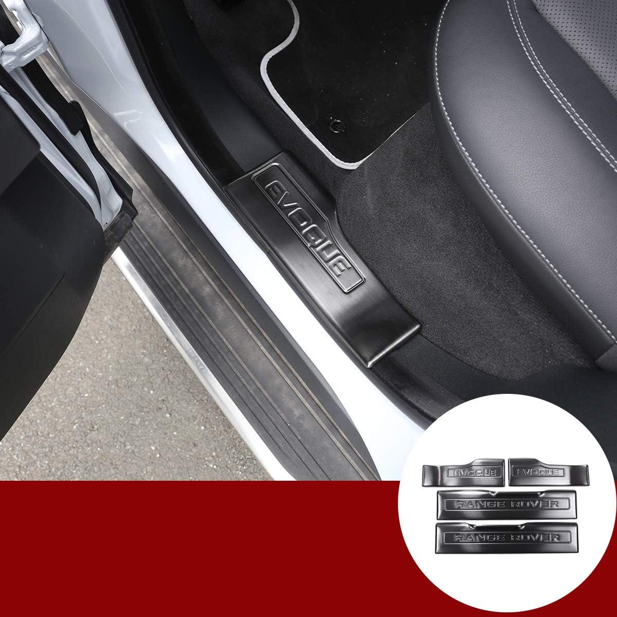 Yiwang 304 Edelstahl Innentürschwelle Abnutzungsschutz 4 Teilig Für Rangerover Evoque 2012 2018 Autozubehör Ohne Licht Auto