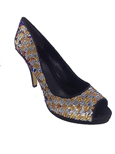 Nine West Women's Danee Platform Pump MultiColor Size 8.0