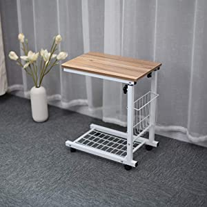 (Shipping from USA) Computer Writing Desk, Home Office Desk, Lazy Bedside Laptop Desk, Removable Coffee Table Snack Table, Adjustable Sofa Side Table Laptop Holder, Small Desk for Bedroom Living Room