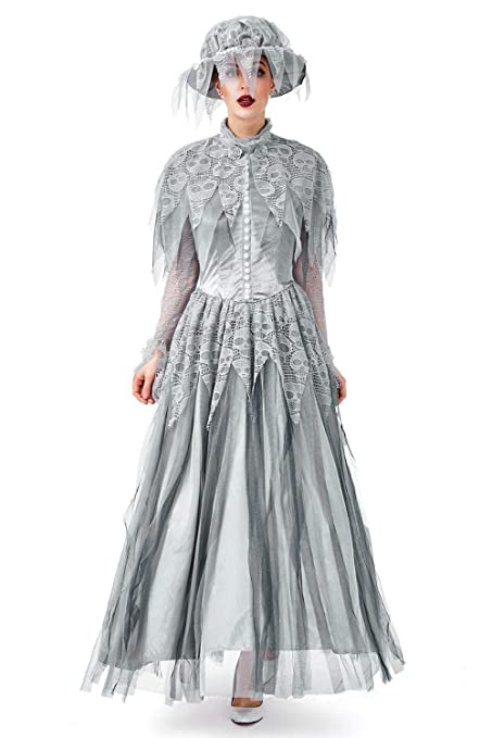 Make an Easy Victorian Costume Dress with a Skirt and Blouse SWEETYSTORE Halloween Deluxe Victorian Haunting Beauty Ghost Bride Corpse Dress Cosplay Costume Women or Girl $24.99 AT vintagedancer.com