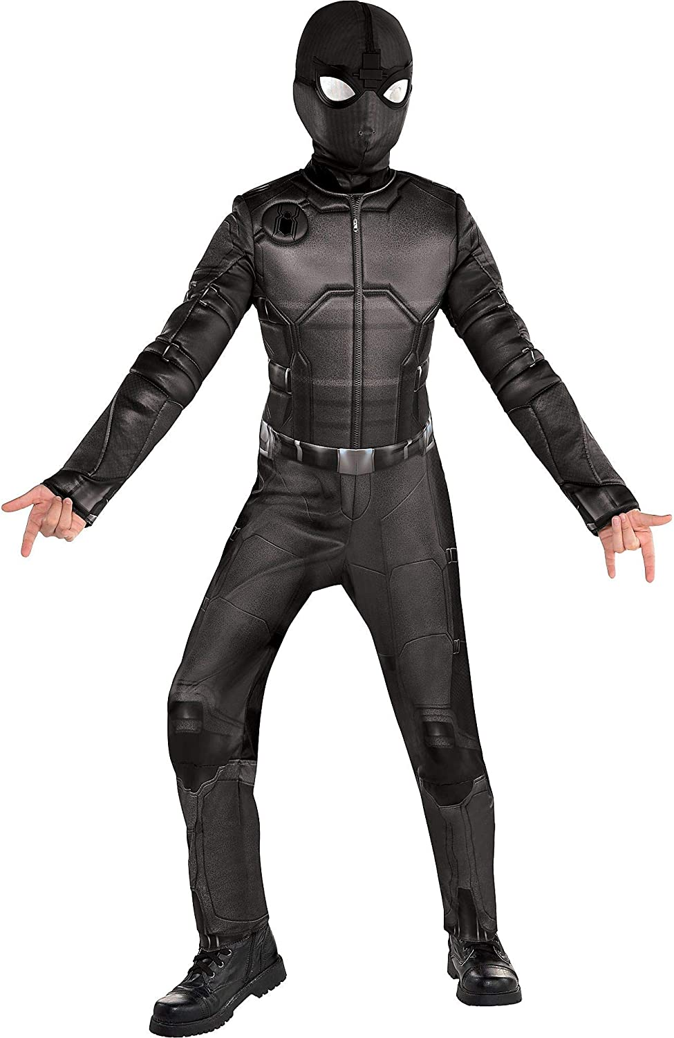 Party City Spider Man Far From Home Spider Man Stealth Suit Costume For Children Size Small Includes Mask And Goggles Clothing