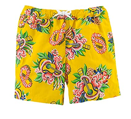 bfad3a6a406524 Amazon.com: Ralph Lauren Boys' Ukulele Traveler Swim Trunks (XL 18 ...
