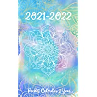 2021-2022 Pocket Calendar: 24-Month JANUARY 2021 - DECEMBER 2022 | Two-Year Monthly Planner for Purse | Small Agenda Schedule | Organizer Notebook | ... Watercolor Mandala Design (2-Year calendar)