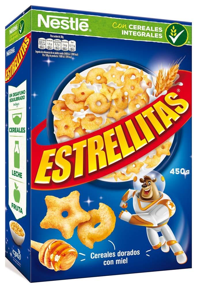 Cereales Nestlé Estrellitas Cereales de trigo y maíz tostados con miel - Paquete de cereales de 450 gr: Amazon.es: Amazon Pantry