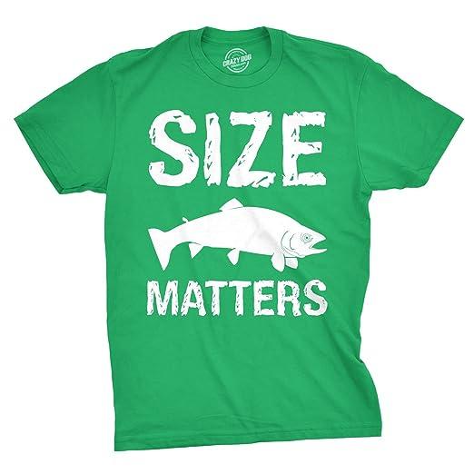 1ce18865 Crazy Dog T-Shirts Size Matters Fish T Shirt Funny Fishing Shirt Boating  Summer Camping