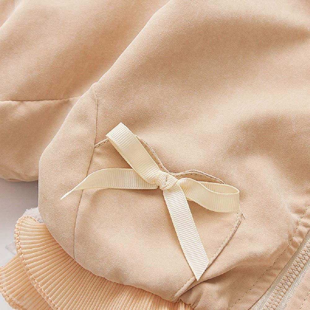 Baby Kids Girl Long Sleeve Ruffle Trench Coat Jacket Outerwear Warm Clothes Spring Autumn Fall Winter