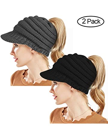 d20f6a8d902 Rosoz Winter Ponytail Beanie for Women