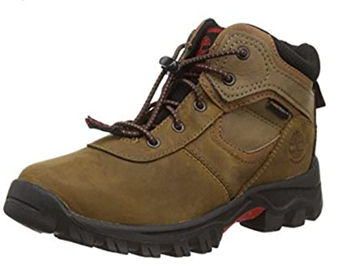 Timberland - Zapatillas de Senderismo de Piel para niño marrón marrón, Color marrón, Talla 32.5: Amazon.es: Zapatos y complementos