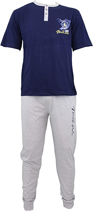 NORTH POLE - Pijama - para Hombre Azul Navy XXL: Amazon ...