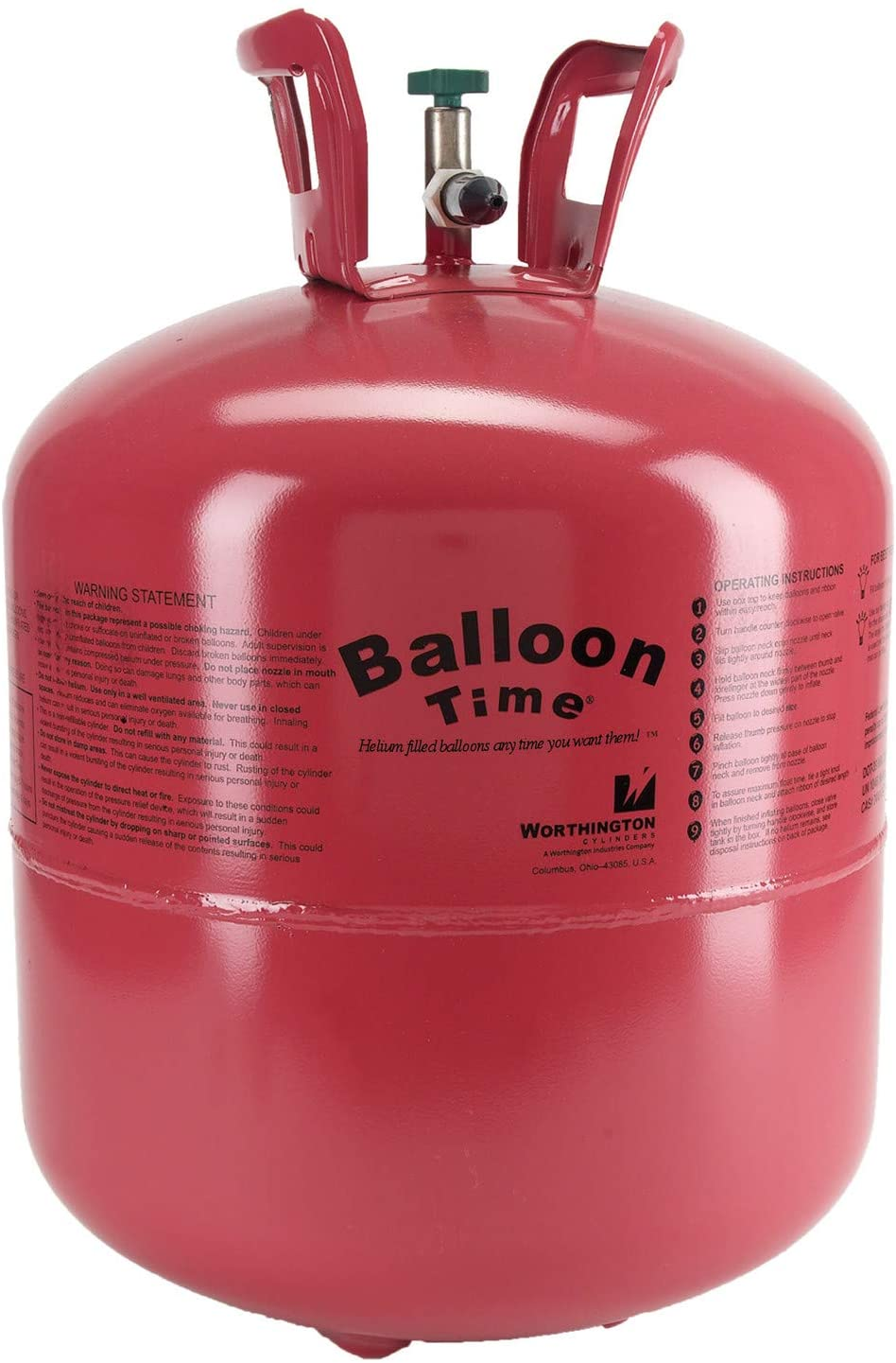 in 10 Litre Helium 2.8 New 200 Bar property Bottle filled